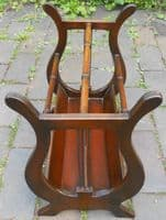 Regency Style Lyre End Magazine Stand